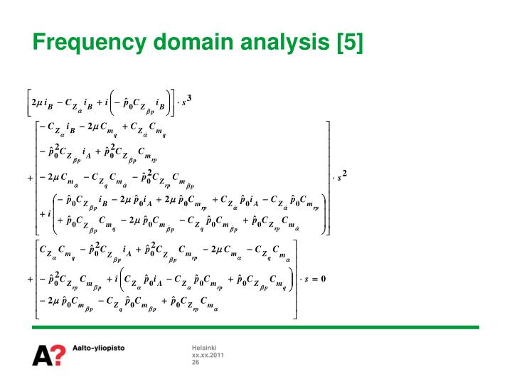 Frequency domain analysis [5]