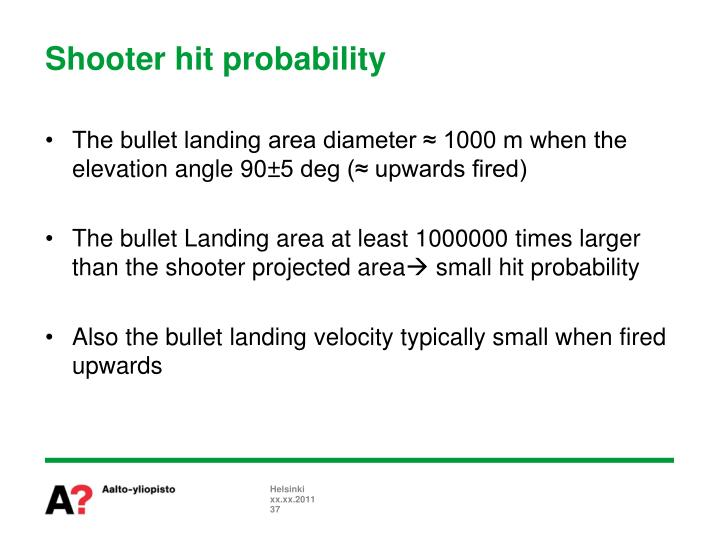 Shooter hit probability