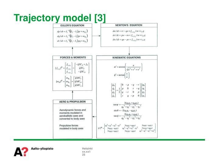 Trajectory model [3]