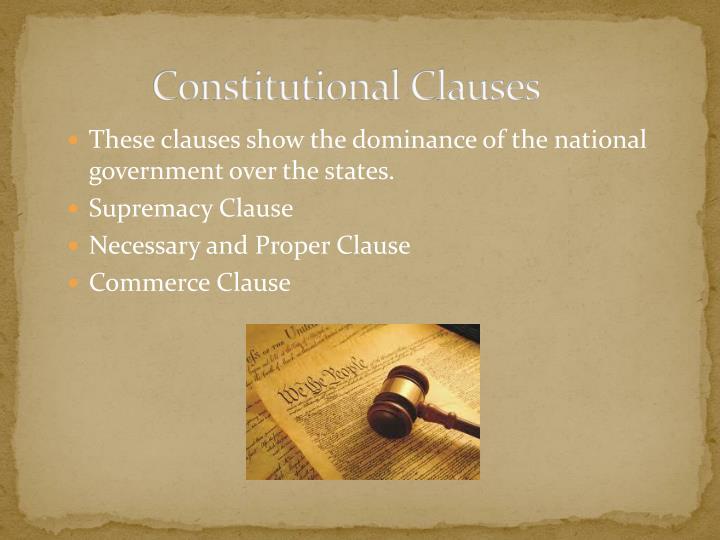 Constitutional Clauses