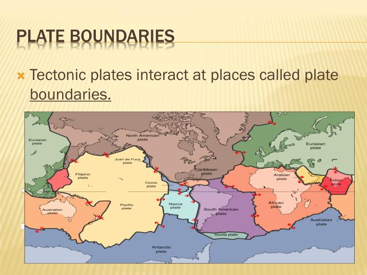 what are the places where tectonic plates meet called