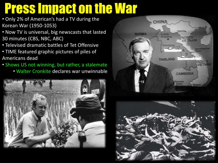 Press Impact on the War