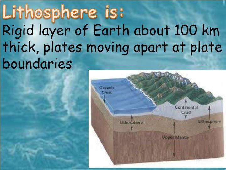 Lithosphere is: