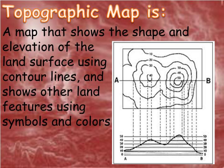 Topographic Map is: