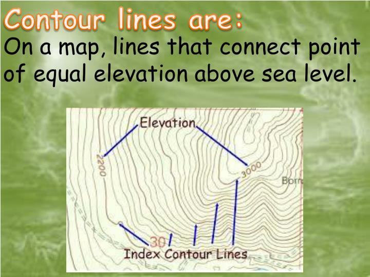 Contour lines are: