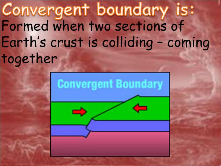 Convergent boundary is: