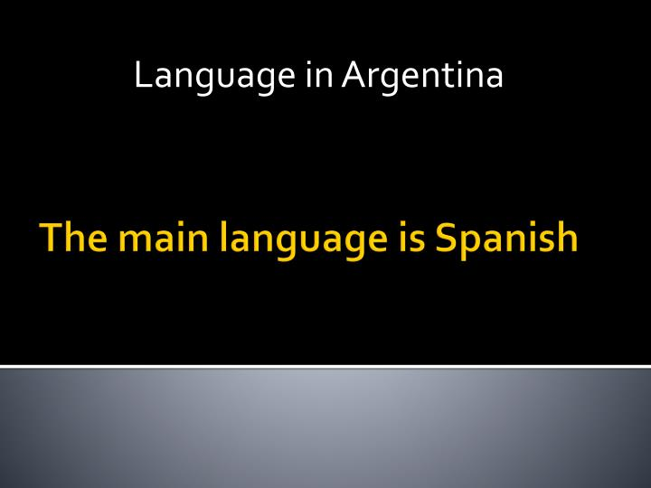 Language in Argentina