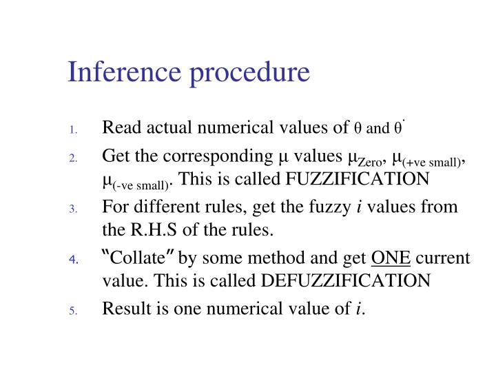 Inference procedure