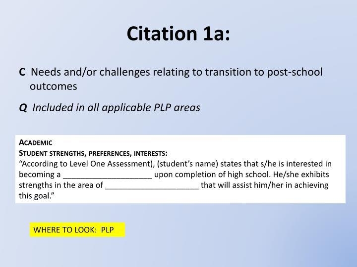 Citation 1a: