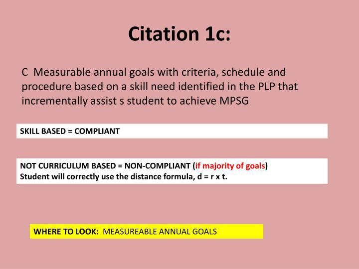 Citation 1c: