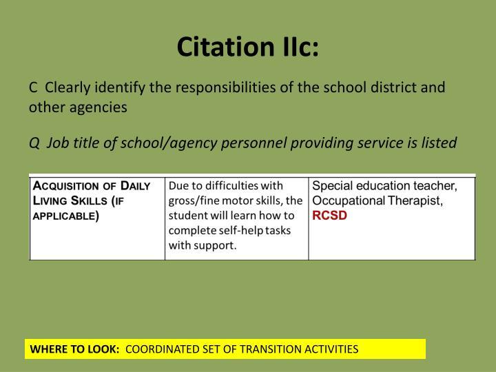 Citation IIc: