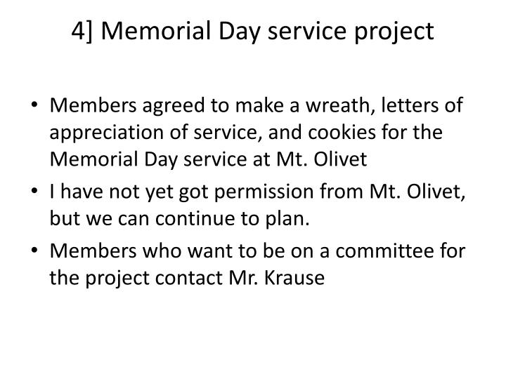 4] Memorial Day service project