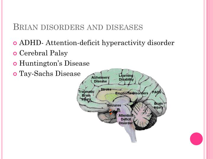 Brian disorders and diseases