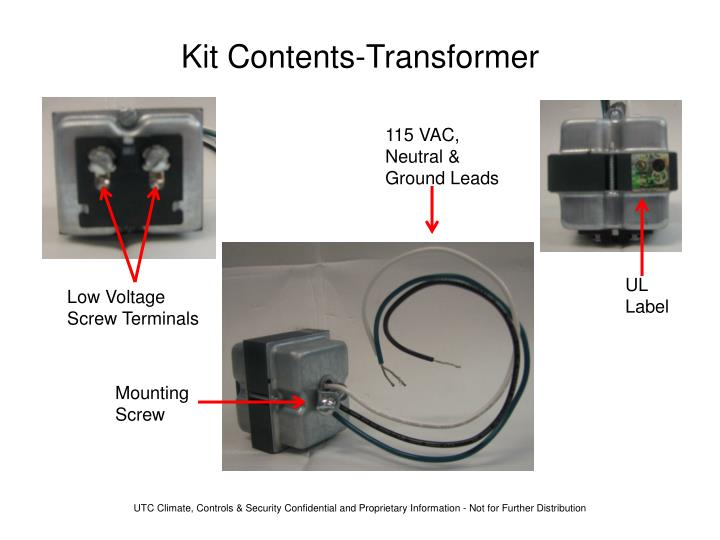 Kit Contents-Transformer