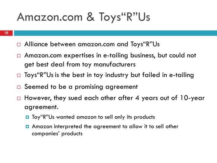 """Amazon.com & Toys""""R""""Us"""