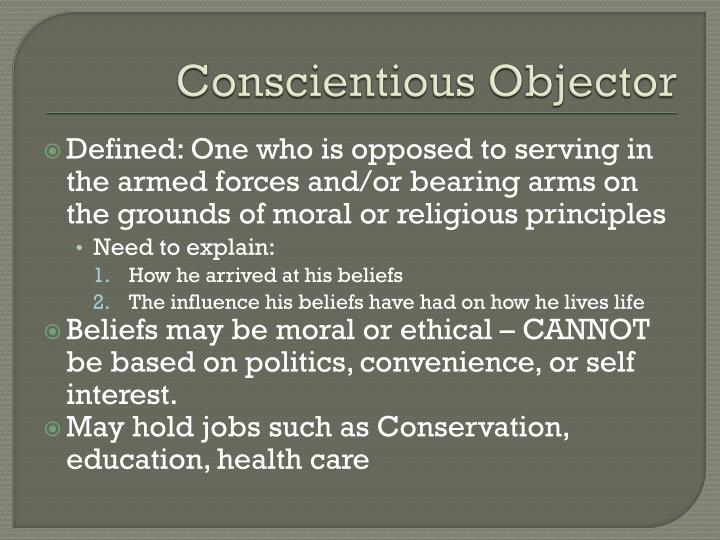 Conscientious Objector