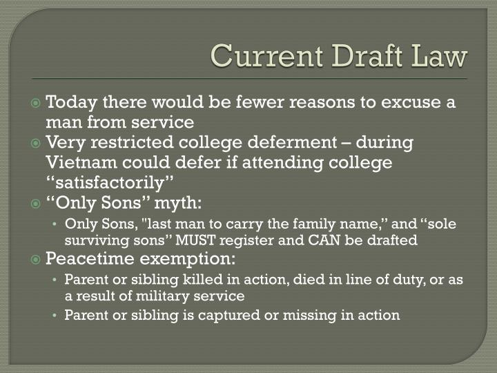 Current Draft Law