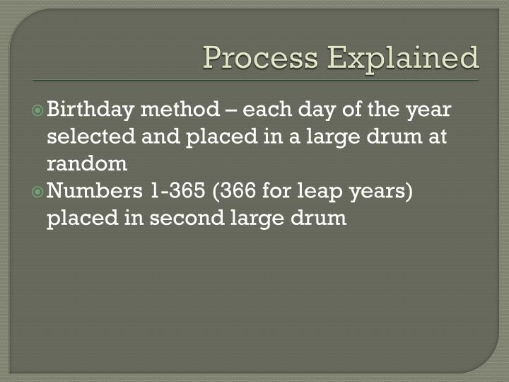 Process Explained