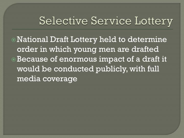Selective Service Lottery