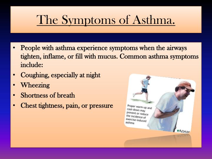 The Symptoms of Asthma.