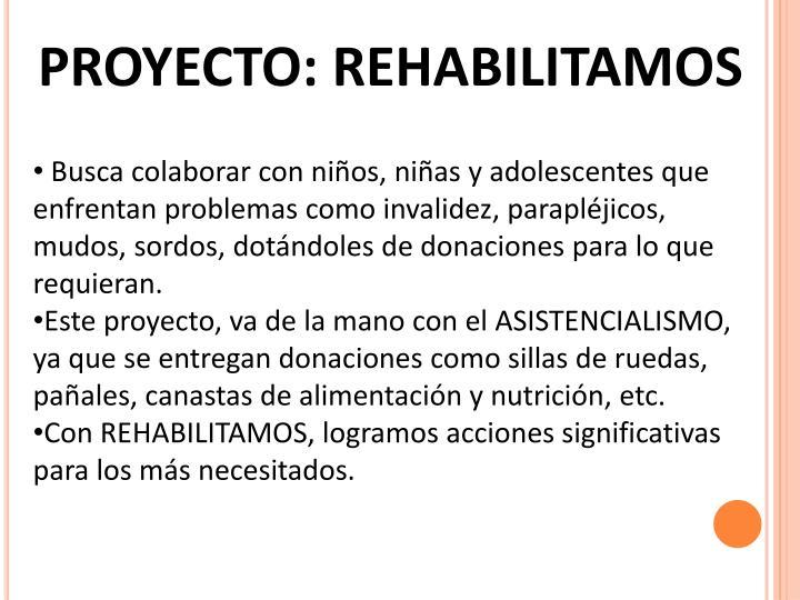 PROYECTO: REHABILITAMOS