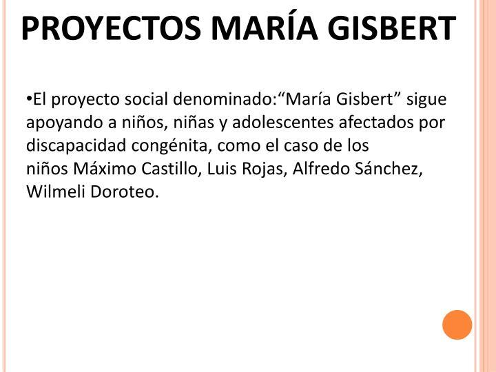 PROYECTOS MARÍA GISBERT