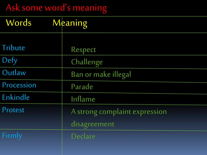 Ask some word's meaning