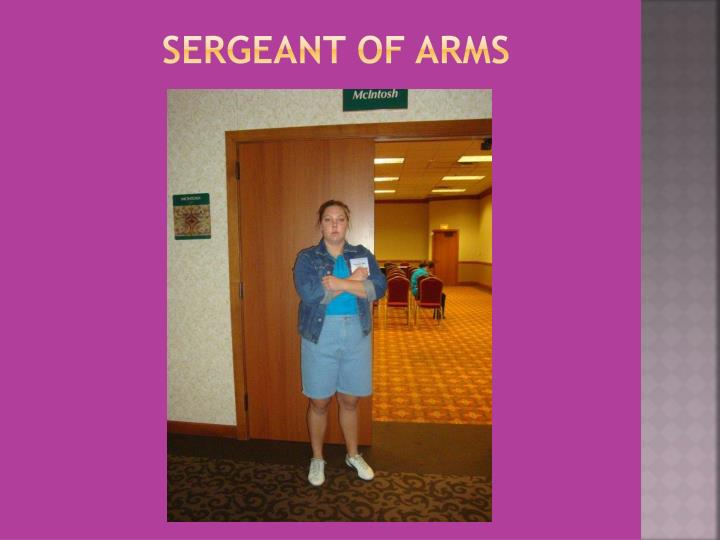 Sergeant of Arms