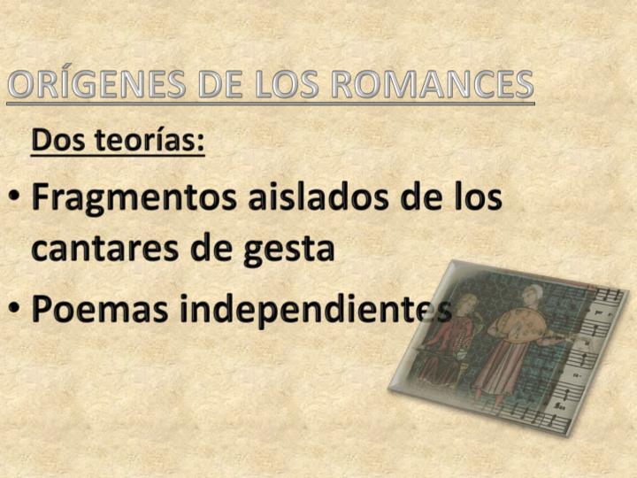 ORÍGENES DE LOS ROMANCES