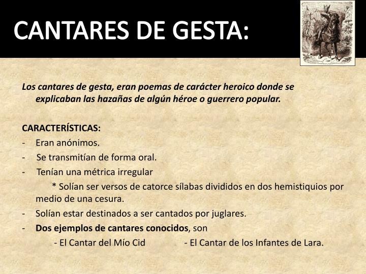 CANTARES DE GESTA: