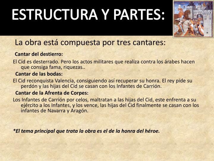 ESTRUCTURA Y PARTES: