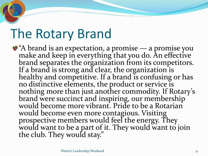 The Rotary Brand