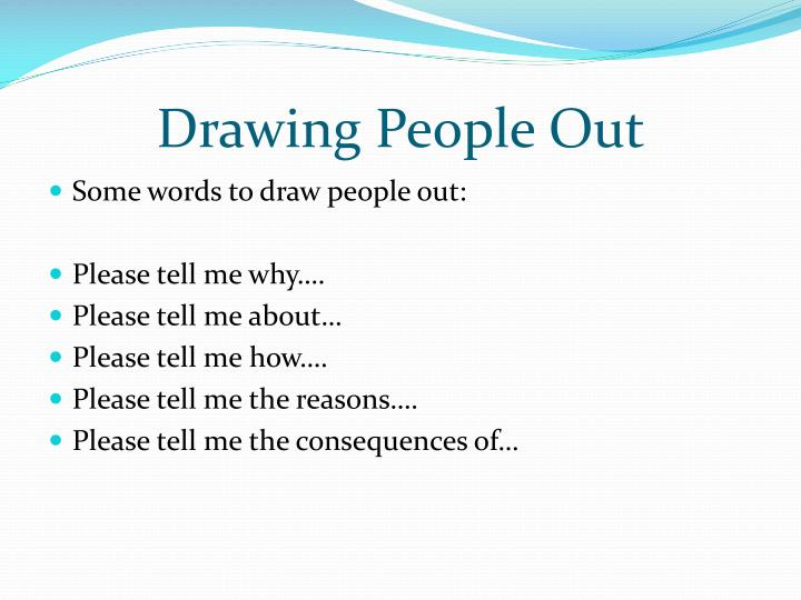 Drawing People Out
