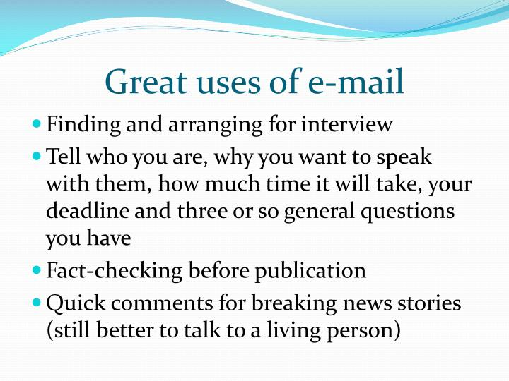 Great uses of e-mail