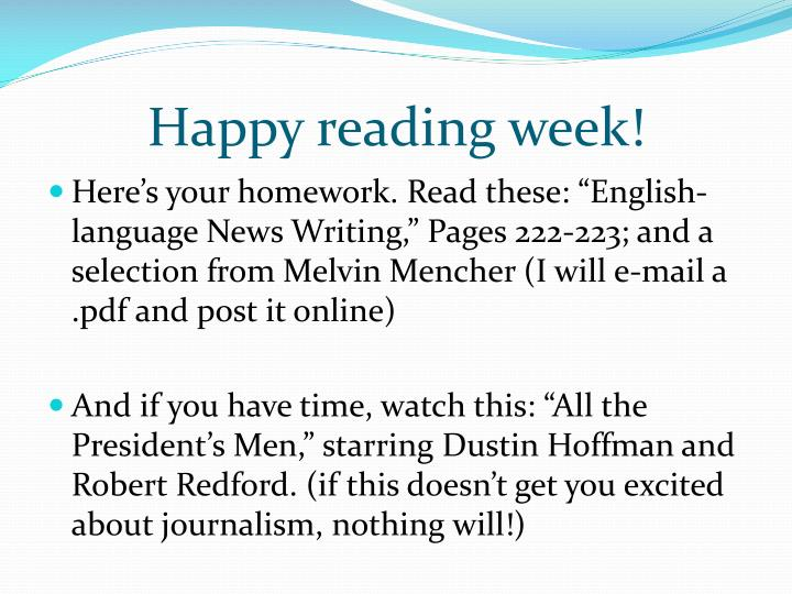 Happy reading week!
