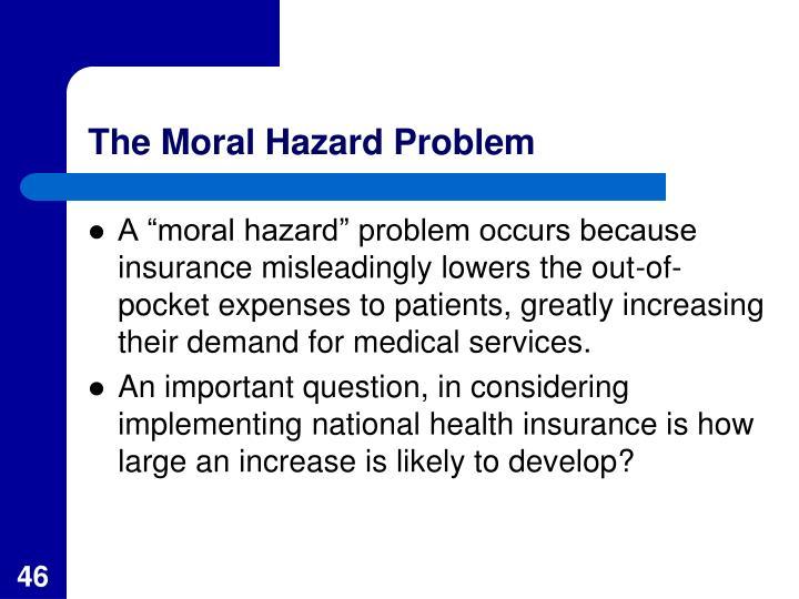 The Moral Hazard Problem