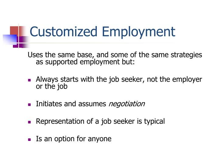 Customized Employment
