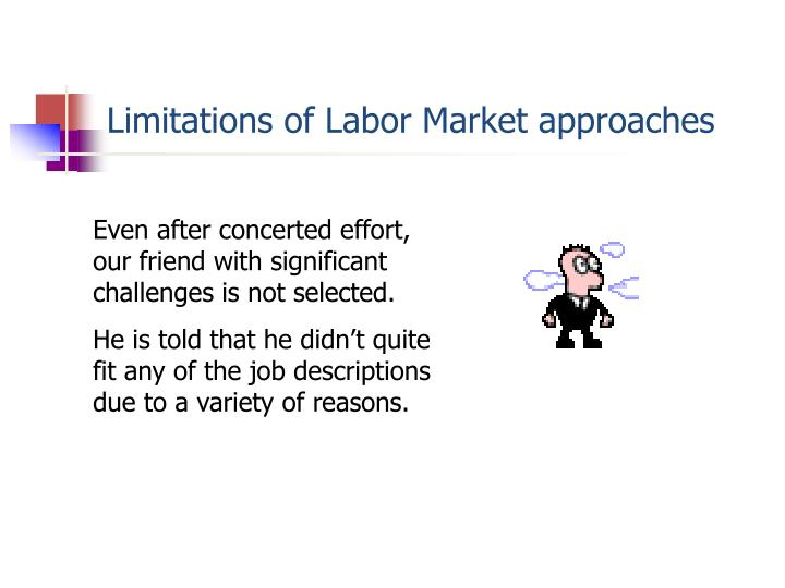 Limitations of Labor Market approaches