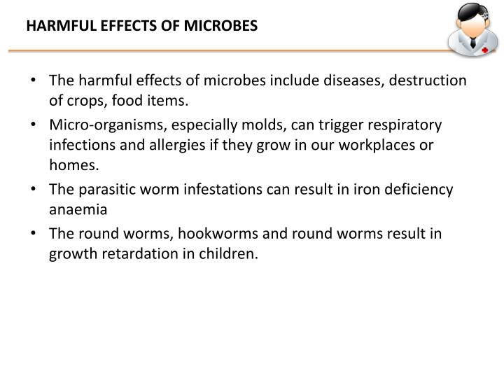 HARMFUL EFFECTS OF MICROBES