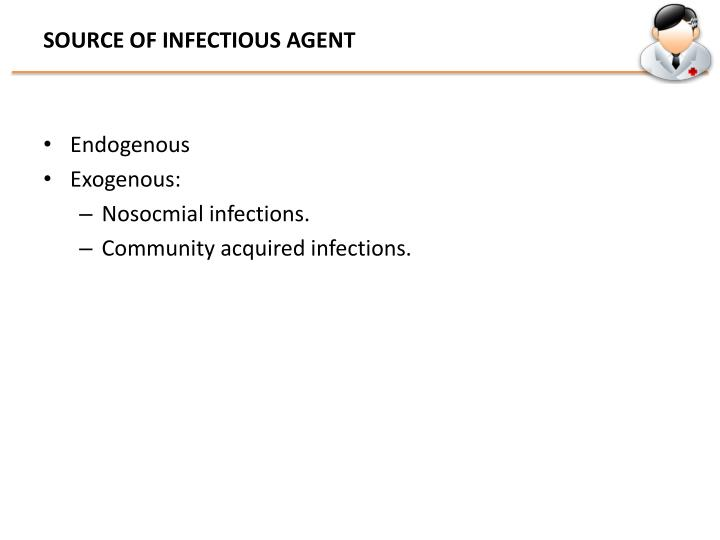 SOURCE OF INFECTIOUS AGENT