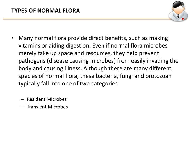 TYPES OF NORMAL FLORA