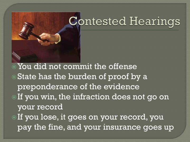 Contested Hearings