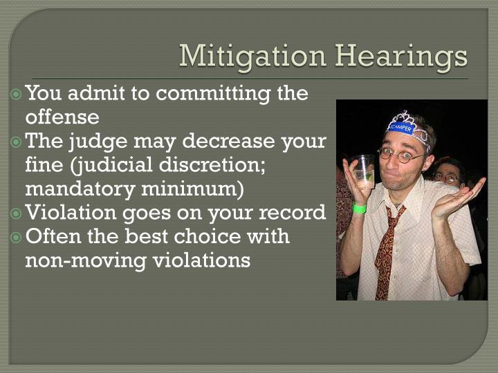 Mitigation Hearings