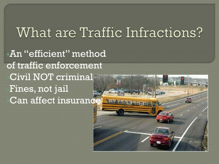 What are Traffic Infractions?