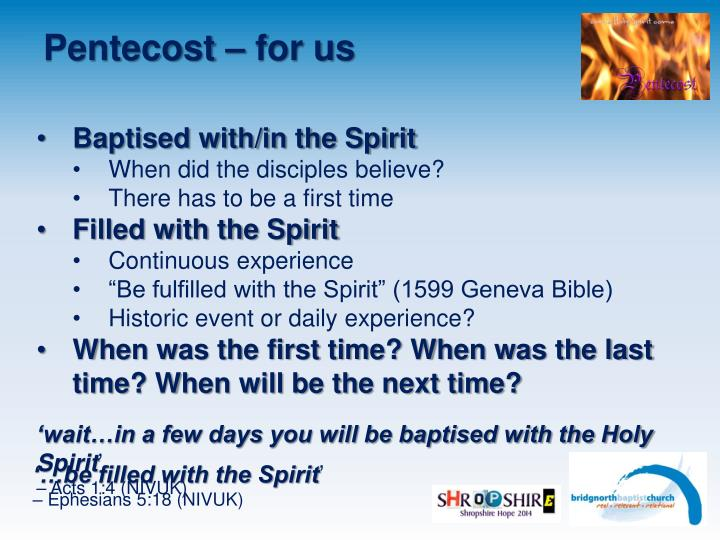 Pentecost – for us