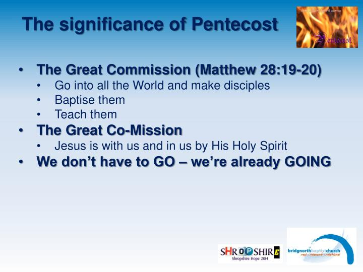 The significance of Pentecost