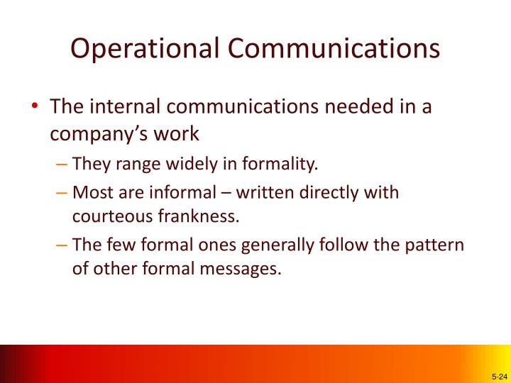 Operational Communications