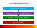 the general direct plan