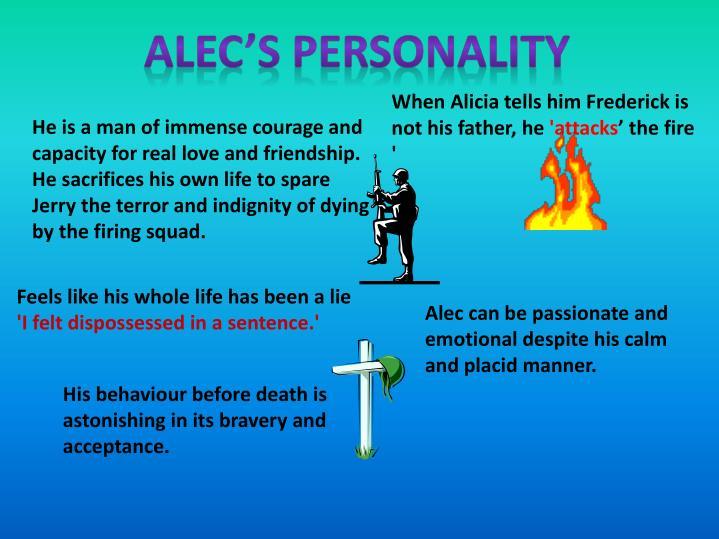 ALEC'S PERSONALITY
