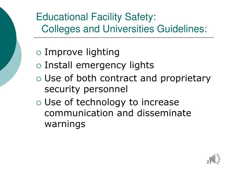 Educational Facility Safety: